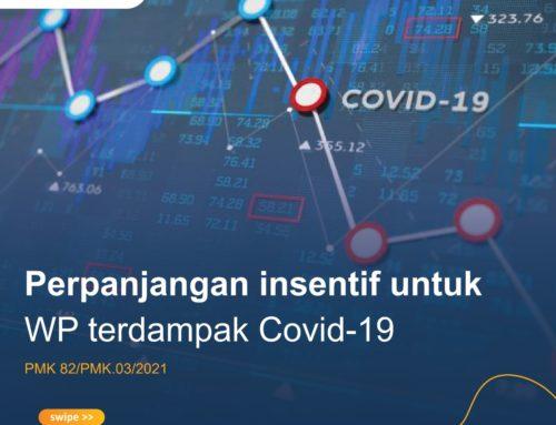 Perpanjangan Insentif bagi WP terdampak Covid 19
